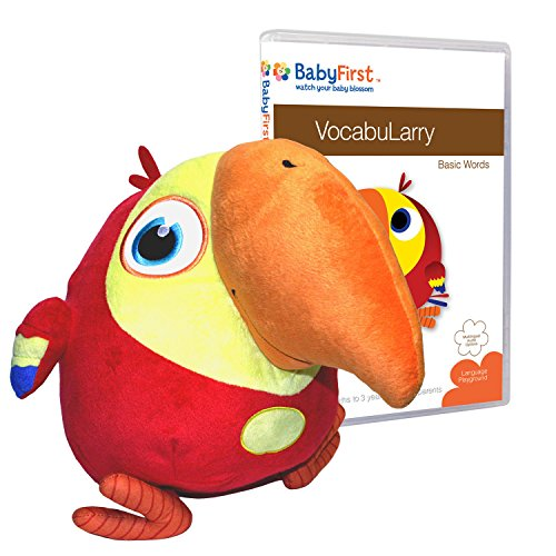 Baby First TV - VocabuLarry Set 1 - Plush and Basic Words DVD - PERFECT BIRTHDAY GIFT (Baby First Tv Characters)