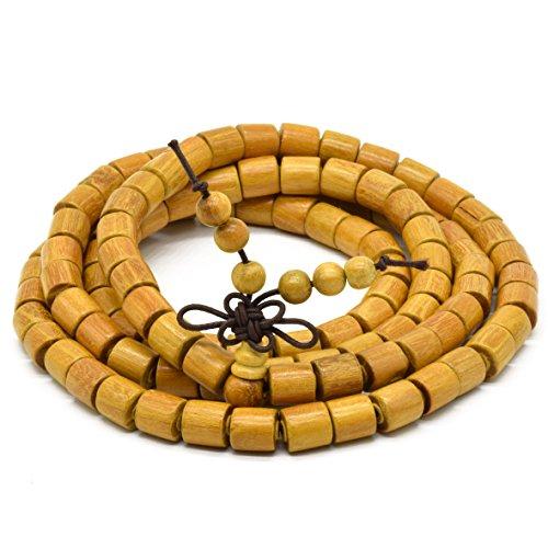 Rel Goods Unisex Natural Mala Golden Sandalwood Beads Cat Eyes Necklace Bracelet Boutique Prayer - Bellingham Shopping Usa