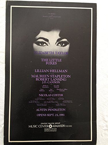 Elizabeth Taylor Original Window Card Poster The Little Foxes Ahmanson Theater Los Angeles 1981 Original