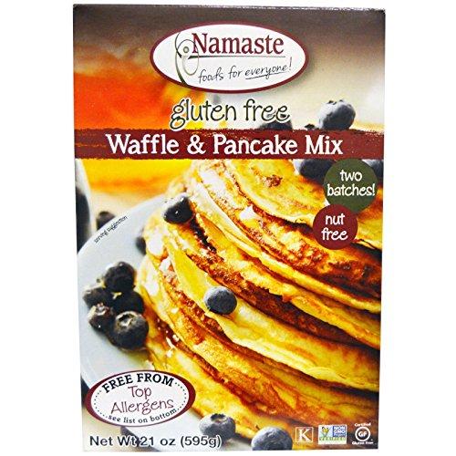 Namaste Foods Waffle & Pancake Wheat Free Gluten Free Dairy Free Mix, 21 oz