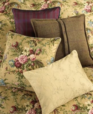 Lauren Ralph Lauren Adriana Embroidery Throw Pillow, Champagne