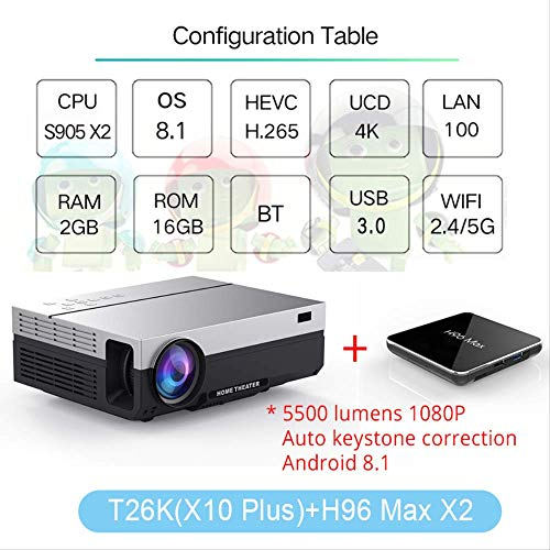 SMEI Proyector Full HD Beamer Video Led Nativo 1080p 5500 Lumen ...