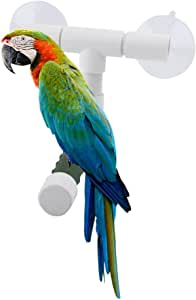 Bird Parrot Perches Foldable Suction Cup Window Shower Bath Wall Paw Grinding Stand Toy for Parrot Budgies Cockatoo Parakeet Bath Perches Toy