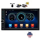EinCar 7 inch Android 5.1.1 Car Stereo Lollipop Quad Core 800480 Capacitive Touch Screen without DVD Player GPS Navigation Radio OBD2 WIFI 3G 4G ScreenMirror Free Map + Wireless Camera