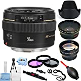 Canon EF 50mm f/1.4 USM Autofocus Lens (Black) 2515A003 [International Version] (Pro Bundle)