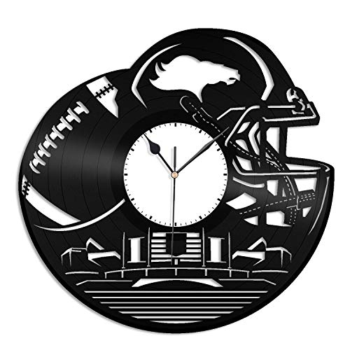 VinylShopUS - Broncos NFL Vinyl Wall Clock Sports Clock Unique Gift for Football Lovers | Home Room Decoration