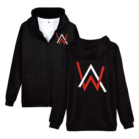 HOOMOLO Unisex Alan Walker Abrigo con Capucha Cardigan Fashion Hoodie Outwear Ocasionales Abrigos Finos para Hombre