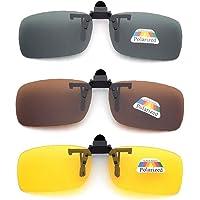 3 PCS Unisex UV400 gepolariseerde lens Frame-less rechthoek Lens Flip Up Clip on Prescription Zonnebril, Daily…