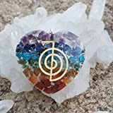 Orgone Heart Pendant Love Stone Chakra Cleansing orgonite Necklace Love Gift