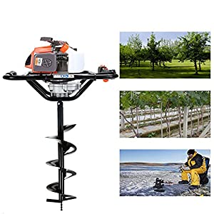 CHIKURA 68cc 2.5kw Big Power Post Hole Digger Ground Drilling Machine Earth Auger 68cc with 100mm 150mm 200mm 300mm…