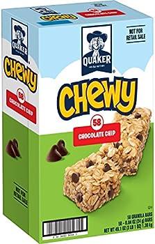 58-Ct. Quaker Chewy Chocolate Chip Granola Bars (0.84 Oz)