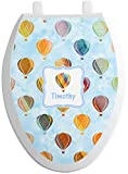 RNK Shops Watercolor Hot Air Balloons Toilet Seat Decal - Elongated (Personalized)