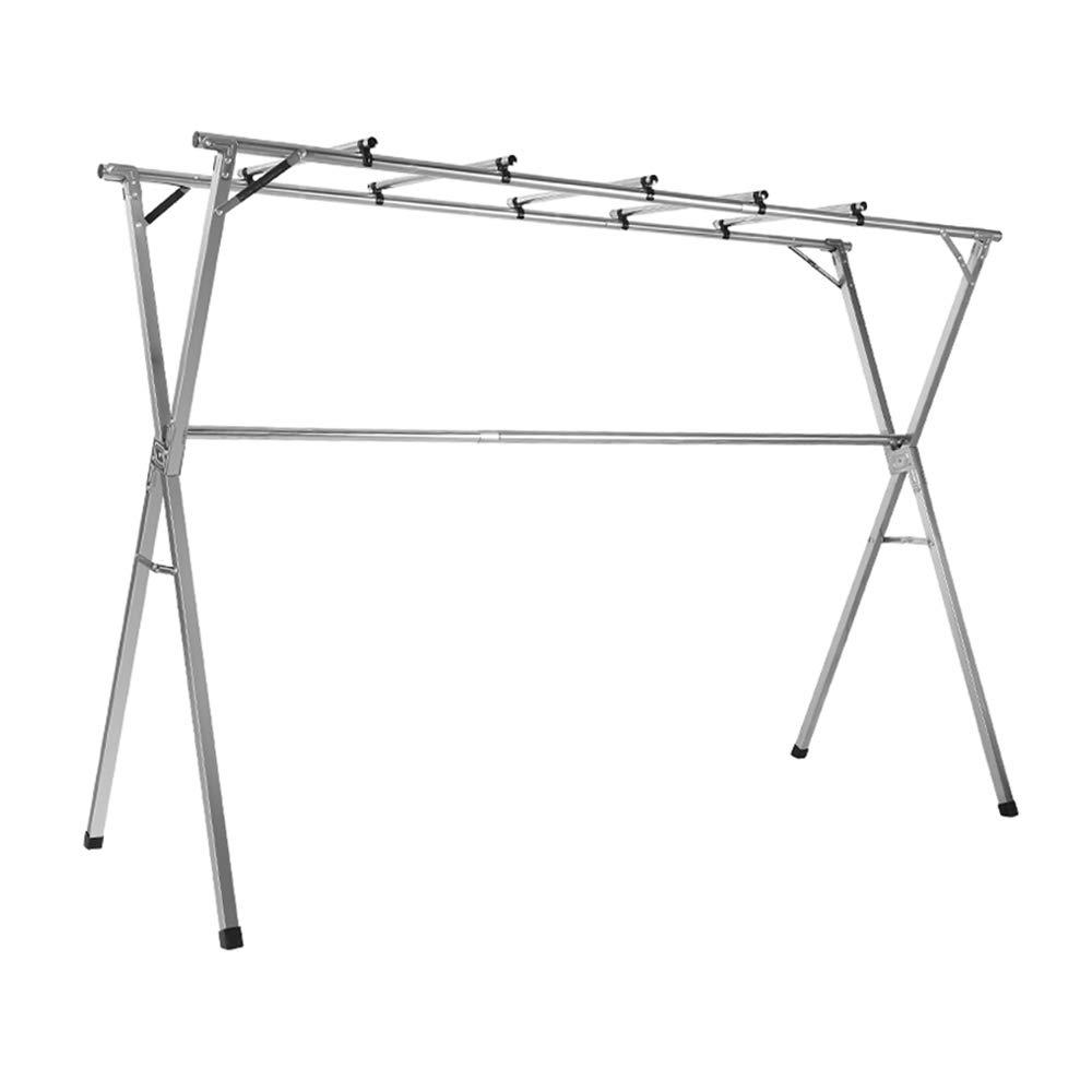 Zaixi 衣服のAirerの柵、調節可能な大容量のステンレス鋼の洗濯の乾燥の棚をはめ込む乾燥の棚 yijia B07PM9LC4C