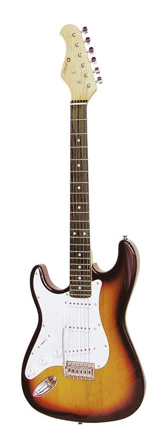Guitarra eléctrica PATRON para zurdos con accesorios, sunburst ...