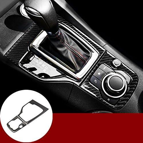 For Mazda 3 Axela 2014-2016 Carbon Fiber Interior Gear Shift Panel Cover Trim