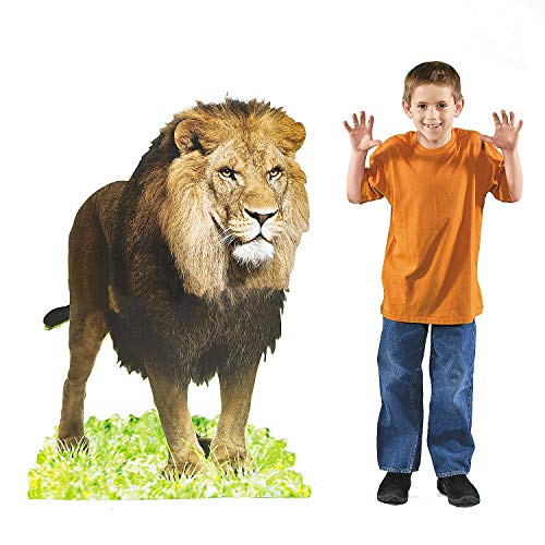 - Fun Express - Lion Standup - Party Decor - Large Decor - Floor Stand Ups - 1 Piece