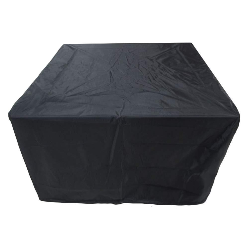 Noir 123x123x74cm XJLG-BÂche Tissu imperméable Couverture de mobilier de Jardin Piscine Loisir Anti-Pluie Anti-poussière Tissu Oxford Tente de Camping en Plein air