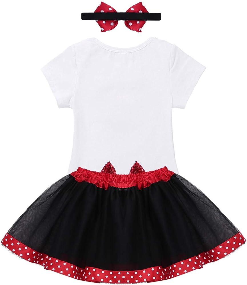 CHICTRY Bebé Niña Vestido Cumpleaños 3pcs Disfraz de Princesa Bebe ...