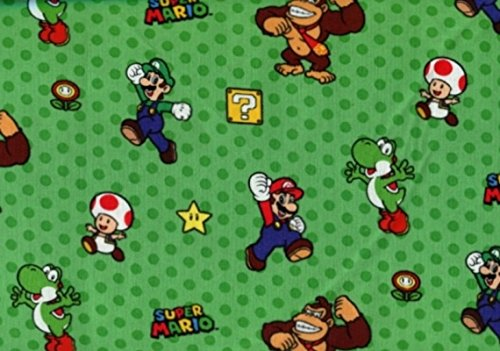Super Mario Bros Characters fabric from Springs - 100% Cotton, 44
