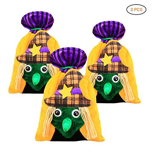 Creative Cartoon Drawstring Candy Bag Bag Sweet Or Sour Prop Kids Halloween Gift Bag Trick or Treat Props (D)