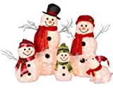 Decra Lite Outdoor Tinsel Snowman Family 5 Piece Set