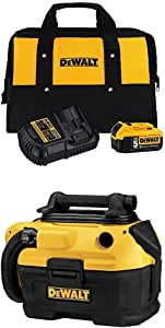 DEWALT 18/20-Volt MAX Cordless/Corded Wet-Dry Vacuum with Charger Kit and Bag