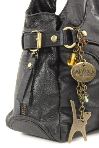 CATWALK COLLECTION - ROXANNA - Bolso de hombro - Cuero Negro