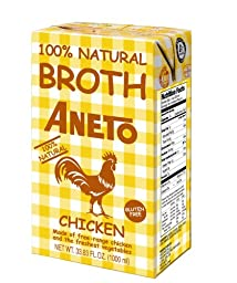 Aneto Chicken Broth, 34 Ounce (Pack of 12)