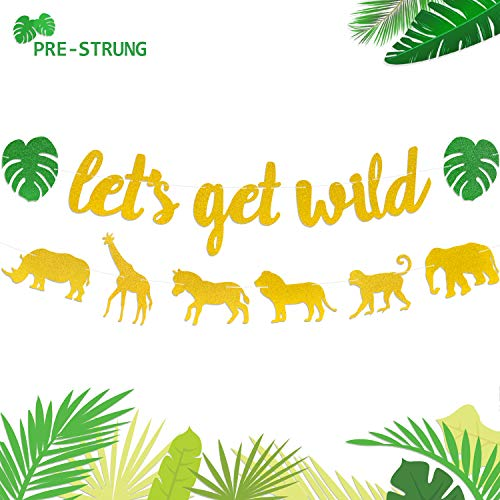 Let's Get Wild Banner Jungle Safari Animal Garland Zoo Themed Baby Shower Wild One Party Welcome Sign Forest 1st Birthday Festival Party - Lions Banner