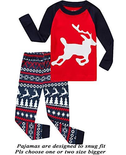 Boys Girls Christmas Pajamas Cotton Toddler Clothes Kids Pjs Children Sleepwear Size 7T