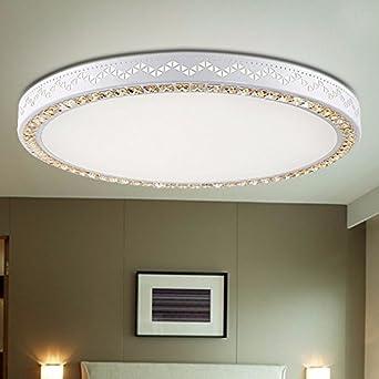 CNIUACeiling Einfache Moderne Wohnzimmer Leuchte Decken  Restaurant  Schmiedeeiserne Lampe Runde Schlafzimmer Balkon Deckenleuchte Durchmesser 80