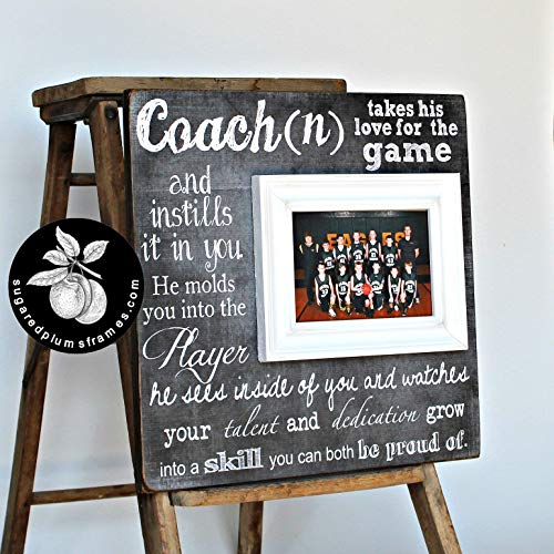 End of the Season Coach Gift, Personalized Gift for Coach, Coach Frame 16x16 The Sugared Plums -