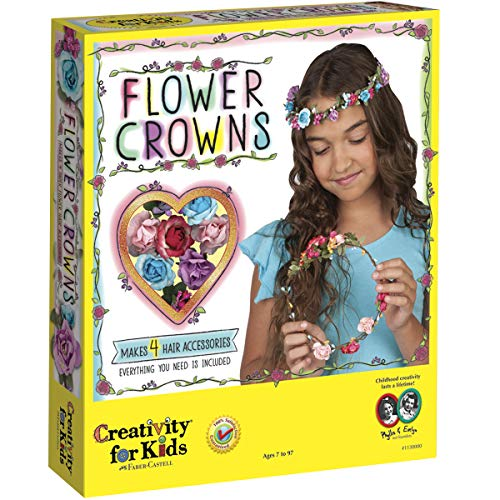 - Creativity for Kids Flower Crowns - Hair Accessory Kit for Kids