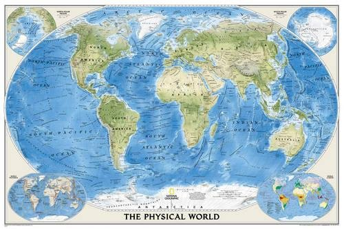 world map physical - 4