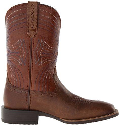 Ariat Mens Sport Bred Fyrkantig Tå Western Cowboy Boot, Leriga Flod Mocka, 11 D Oss sandstorm / Coyote Brown