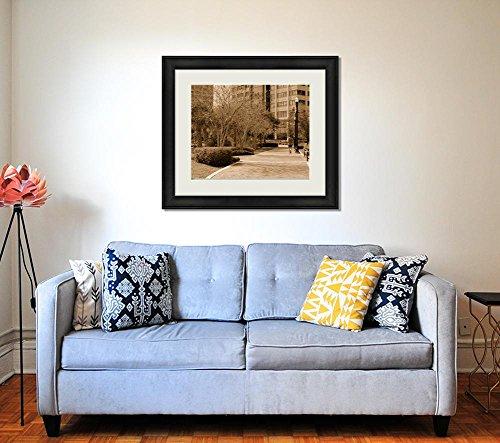 Ashley Framed Prints Jacksonville Florida River Walk, Wall Art Home Decoration, Sepia, 34x40 (frame size), AG5431831 by Ashley Framed Prints (Image #1)