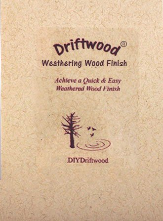 DRIFTWOOD Weathering Wood Finish Gray Wood Stain - Create a Driftwood Weathered Wood Finish on Unfinished Wood in Minutes; Mix with Water and Apply on Furniture, Floors, Feature Walls, Wood Frames