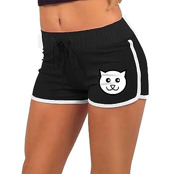 Women's Sexy Shorts Cartoon Cat Face Fashion Beach Hot Shorts
