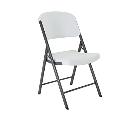 lifetime classic commercial folding chair white granite 1pack
