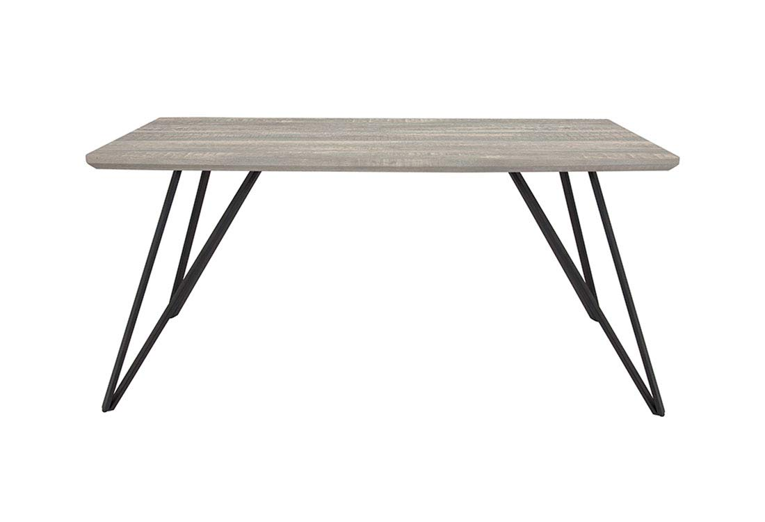 Flash Furniture Rectangular Dining Table in Distressed Gray Finish