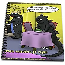 Londons Times Gen 2 Cartoons - Veganism - Godzilla; Eat Your Soy - Drawing Book 8 x 8 inch (db_107300_1)