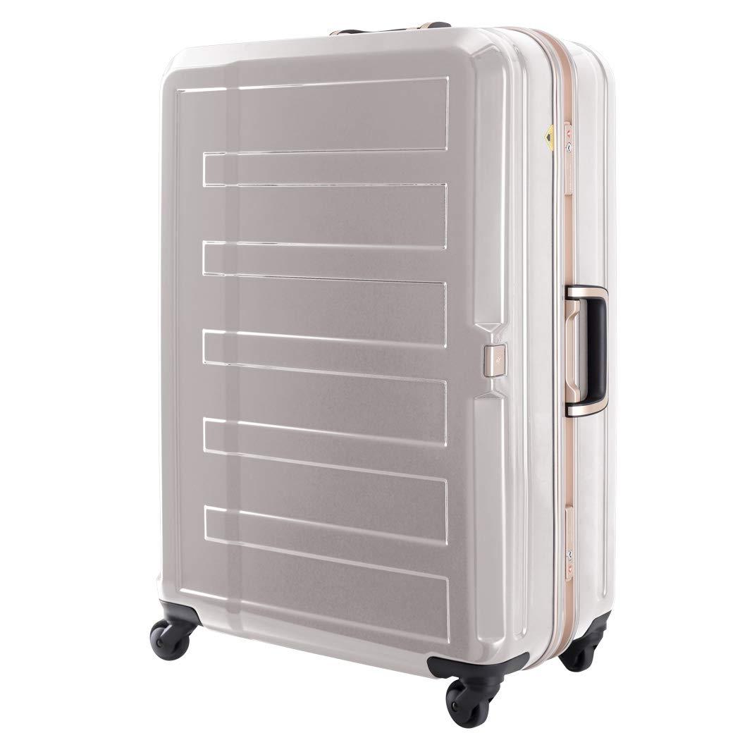 [アウトレット] 鏡面ボディ 細深溝フレーム スーツケース キャリーバッグ キャリーケース LEGEND WALKER レジェンドウォーカー Lサイズ B-5188-68 アイボリー   B07PQDFQWQ