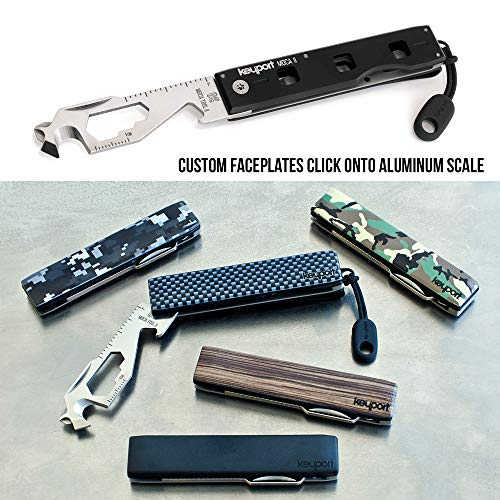 Anywhere Tools MOCA II 11-in-1 Multitool Keychain Module with Custom Faceplate, Pocket Clip ParaPull – Keychain Bottle Opener, Pocket Screwdriver More – TSA Friendly Multitool for EDC Keychain