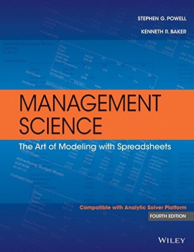 management science modeling spreadsheets buyer's guide