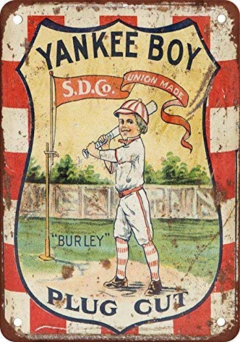 - DOPN Yankee Boy Plug Cut Tobacco Vintage Look Reproduction Metal Tin Sign 8x12 inches