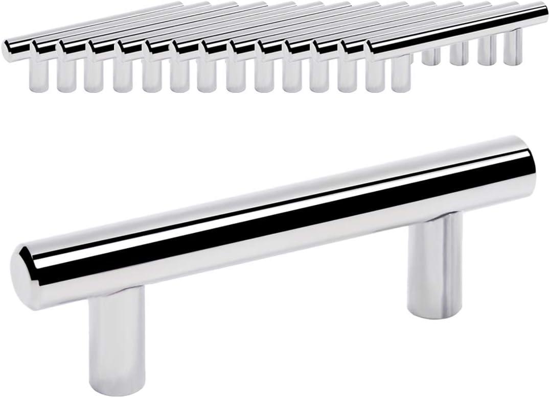 En acier inoxydable Bouton de tiroir PD201HPC Poign/ée de tiroir Probrico en forme de T pour meuble de cuisine Diam/ètre 12/mm
