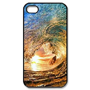 Fggcc Ocean Wave Surfer Sunset Cell Phone Case for Iphone 4,4S,Ocean Wave Surfer Sunset Iphone 4,4S Back Case (pattern 8)