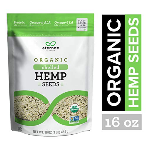 Eternae By Nature Organic Shelled Hemp Seeds, 16 Ounce