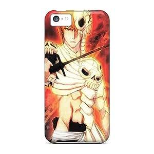 ipod touch4 Hard Back With Bumper Silicone Gel Tpu Case Cover Bleach Kurosaki Ichigo Artwork Anime Hollow Ichigo