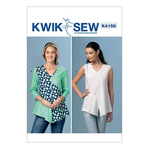 756392bb997 KWIK-SEW PATTERNS K4158 Misses' V-Neck, Contrast Tops, All Sizes
